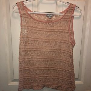 Cotton On Lace Pink Crop Top